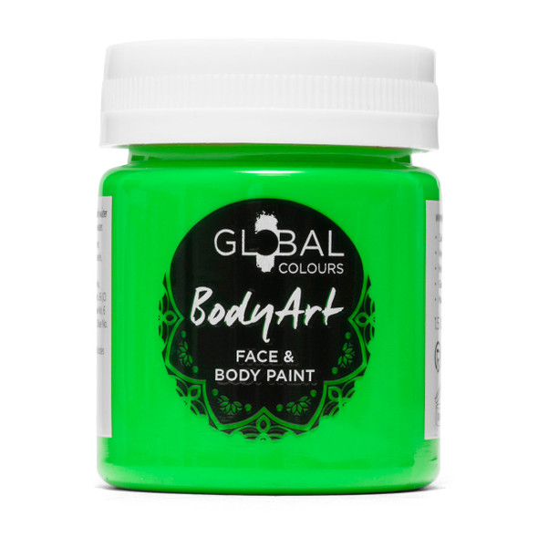 NEON GREEN Face and Body Paint Liquid by Global Colours