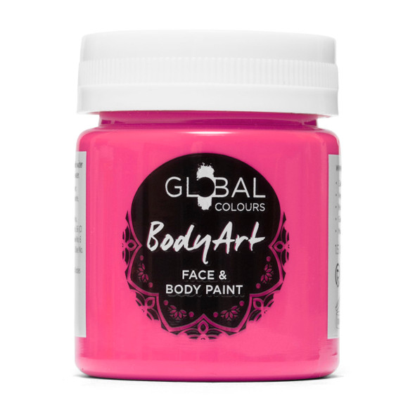 NEON PINK Face and Body Paint Liquid by Global Colours
