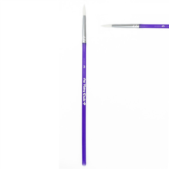 ROUND BRUSH SIZE 3 - Art Factory face paint brush