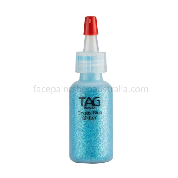 CRYSTAL BLUE HOLOGRAPHIC cosmetic glitter dust (loose) by TAG Body Art