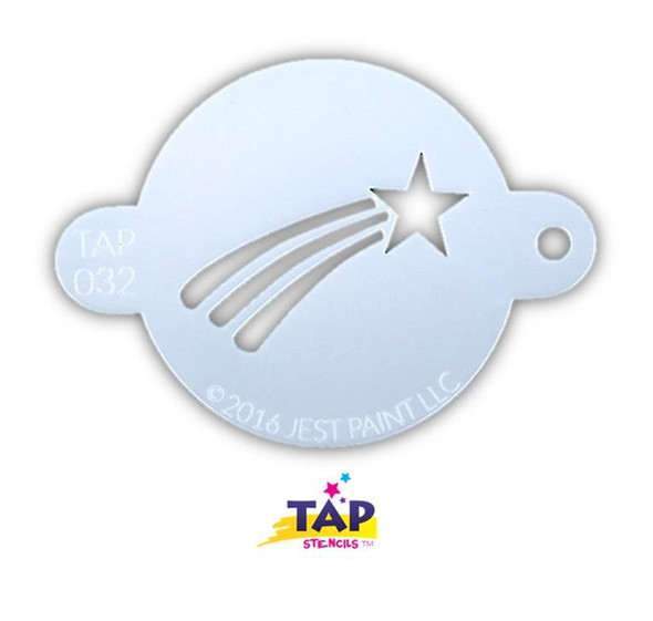 SHOOTING STAR TAP 032 Face Painting Stencil