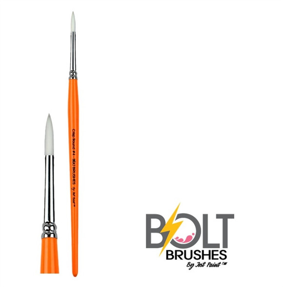 ROUND BRUSH SIZE 4 CRISP Face Painting Brush BOLT