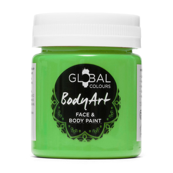 LIME GREEN Face and Body Paint Liquid by Global Colours