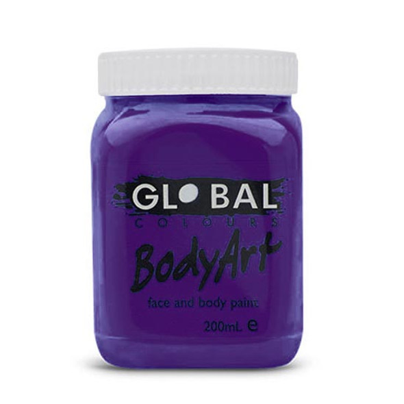 PURPLE Face and Body Paint Liquid by Global Colours
