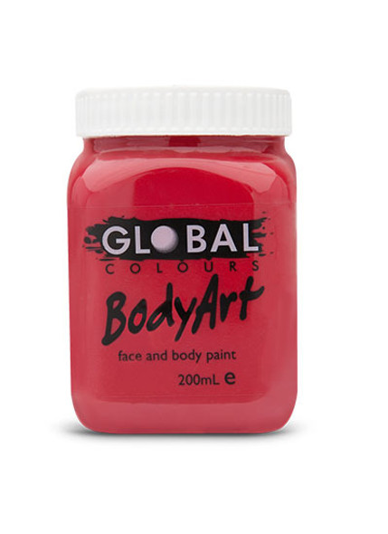 DEEP RED Face and Body Paint Liquid by Global Colours