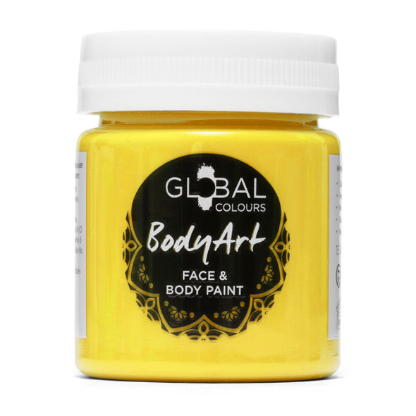 YELLOW Face and Body Paint Liquid by Global Colours