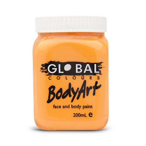ORANGE Face and Body Paint Liquid by Global Colours