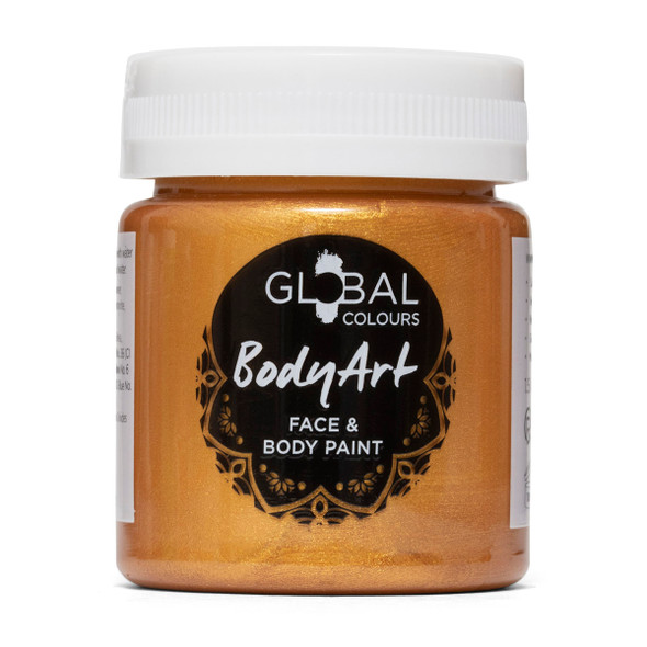 GOLD Face and Body Paint Liquid by Global Colours
