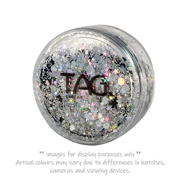 SILVER chunky glitter 10g