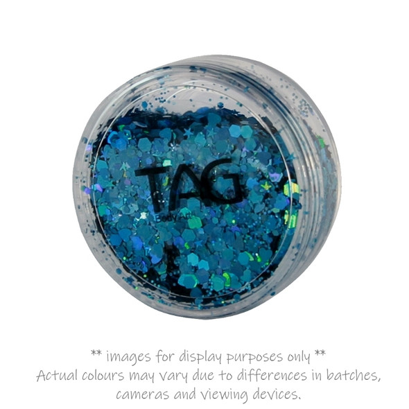 BLUE chunky glitter 10g