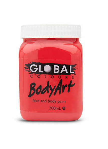 BRILLIANT RED Face and Body Paint Liquid by Global Colours