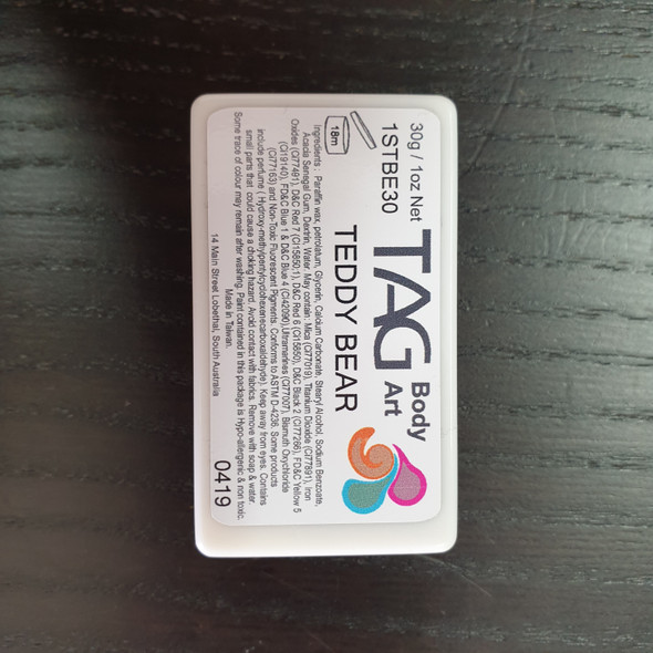 TEDDY BEAR one stroke split cakes 30g by TAG Body Art