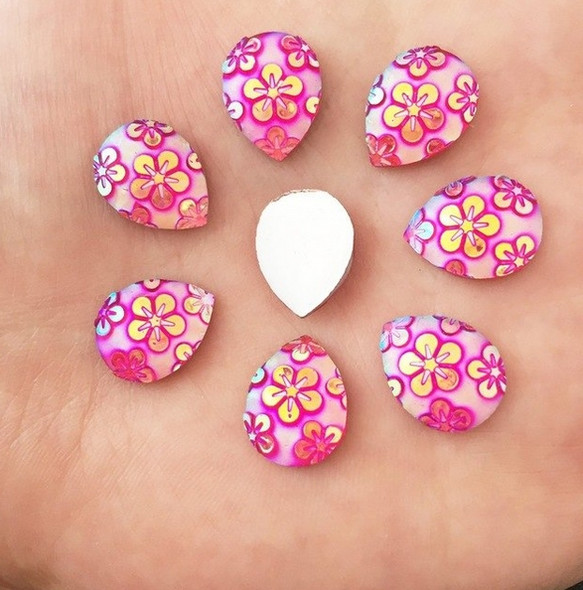 Blush Pink Aloha Drop Gem-Gems by Pro FX (approx 30 pieces) resin flatback gems 10x14mm