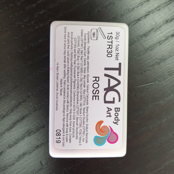 ROSE one stroke split cakes 30g by TAG Body Art