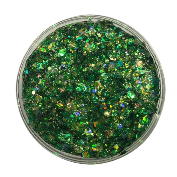 'Dragon Scales' Green Festival Glitter by the Art Factory