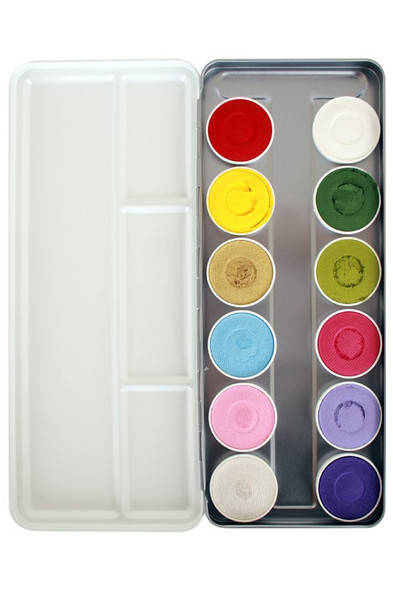 'Botanical' 12 Colour Face Paint Palette x 5g each by SUPERSTAR