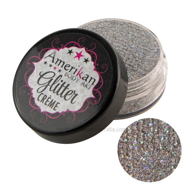 Luna Silver Glitter Creme by Amerikan Body Art