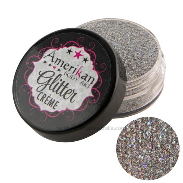 Luna Silver Glitter Creme by Amerikan Body Art 10g