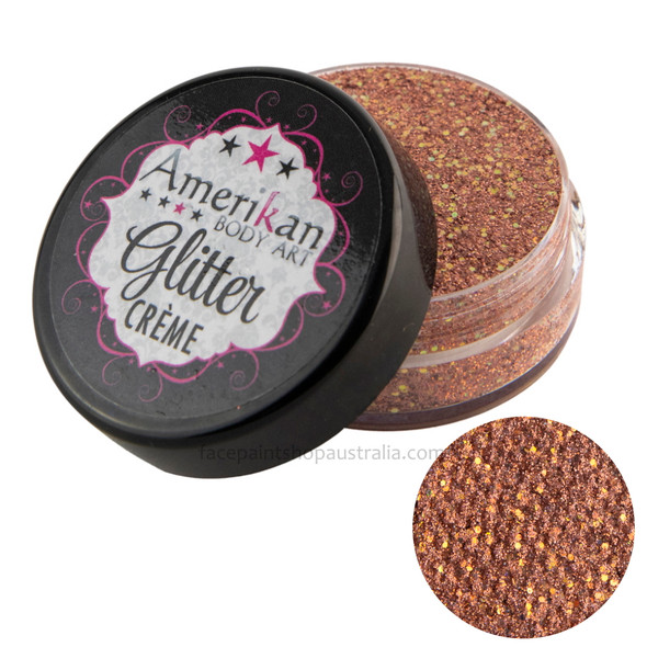amerikan body art glitter creme supernova rose gold