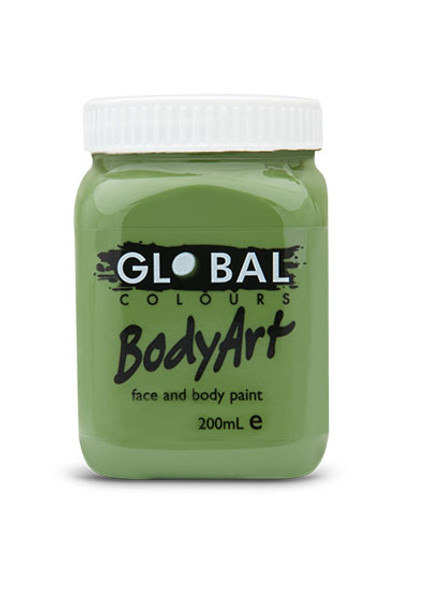 OLIVE GREEN Face and Body Paint Liquid by Global Colours