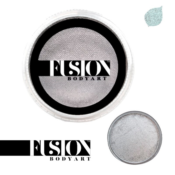 PEARL METALLIC SILVER by Fusion Body Art face paint 32g