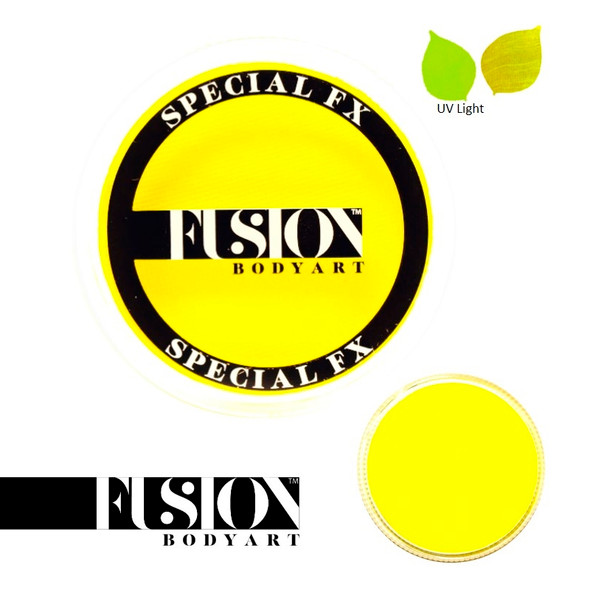 FX UV NEON YELLOW by Fusion Body Art face paint 32g