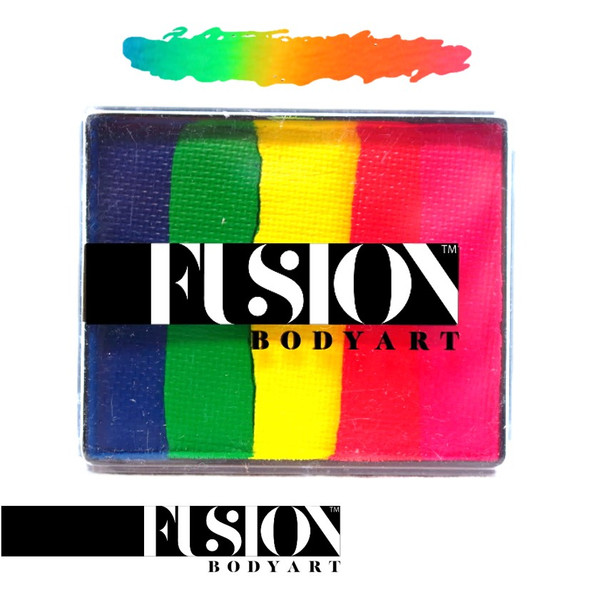 FX NEON RAINBOW by Fusion Body Art face paint 50g