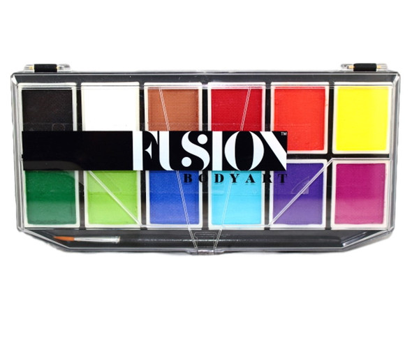 PALETTE SAMPLER Fusion Body Art face paint 12 x 7g Prime Colours
