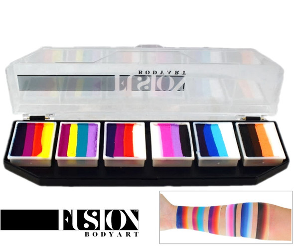'Splash' SPECTRUM PALETTE Fusion Body Art face paint 6x 10g mini cakes