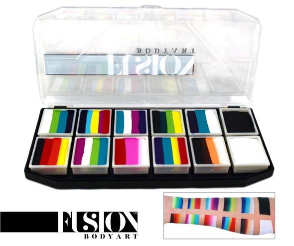 'Rainbow Explosion' SPECTRUM PALETTE Fusion Body Art 12x10g mini cakes