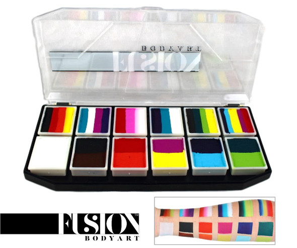 'Carnival' SPECTRUM PALETTE Fusion Body Art 12x10g mini cakes