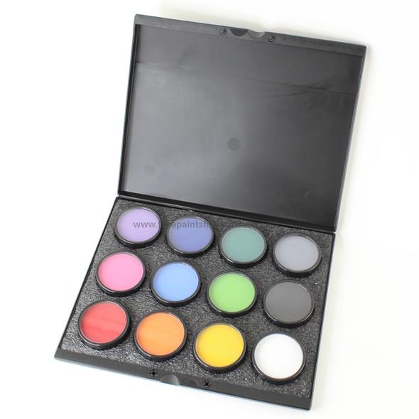 Pro Palette 12x 40g Colours Mehron Paradise Makeup AQ™
