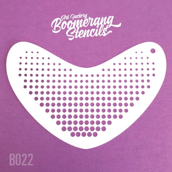 HALFTONE by Boomerang Face Painting Stencil