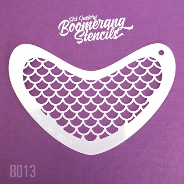 MERMAID SCALES by Boomerang Face Painting Stencil