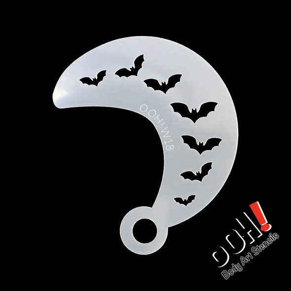 Bat Wrap Stencil by Ooh! Stencils W18