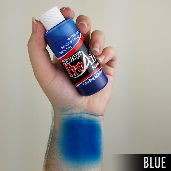 BLUE ProAiir Hybrid Waterproof Liquid Face and Body Paint for Airbrush