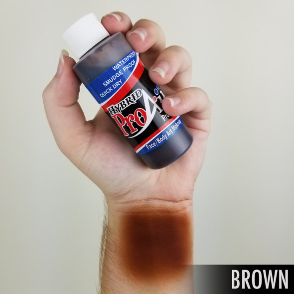 BROWN ProAiir Hybrid Waterproof Liquid Face and Body Paint for Airbrush