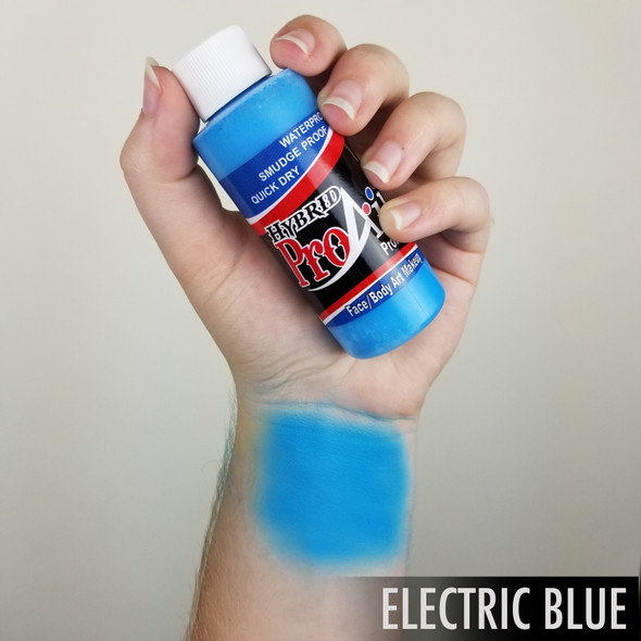 ELECTRIC BLUE ProAiir Hybrid Waterproof Liquid Face and Body Paint for Airbrush