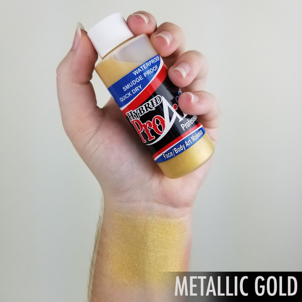 GOLD METALLIC ProAiir Hybrid Waterproof Liquid Face and Body Paint for Airbrush