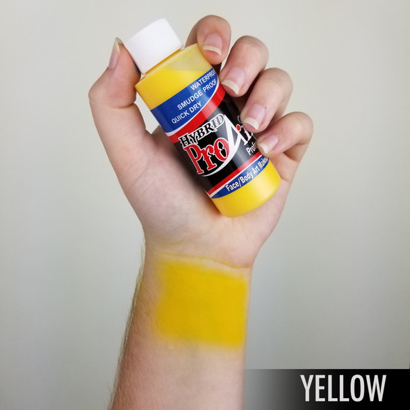YELLOW ProAiir Hybrid Waterproof Liquid Face and Body Paint for Airbrush