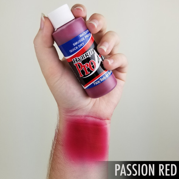 RED PASSION ProAiir Hybrid Waterproof Liquid Face and Body Paint for Airbrush