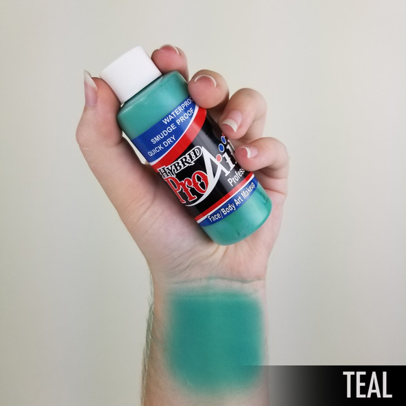 TEAL ProAiir Hybrid Waterproof Liquid Face and Body Paint for Airbrush