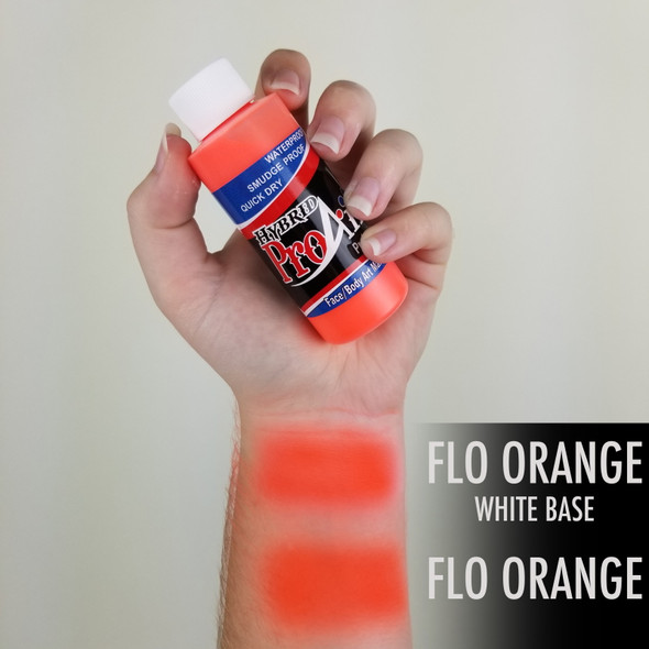 FLUORO ORANGE ProAiir Hybrid Waterproof Liquid Face and Body Paint for Airbrush