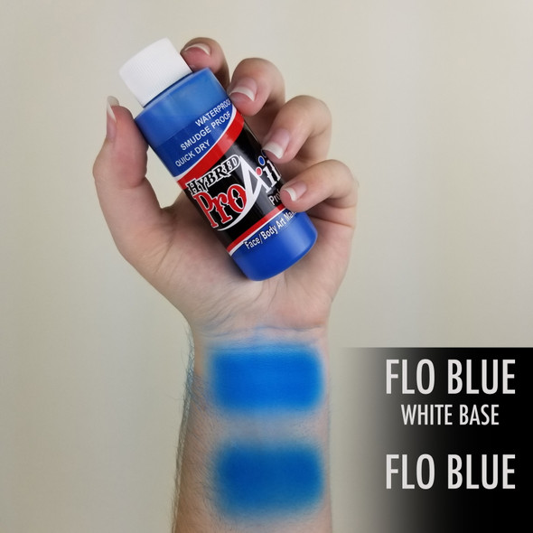 FLUORO BLUE ProAiir Hybrid Waterproof Liquid Face and Body Paint for Airbrush