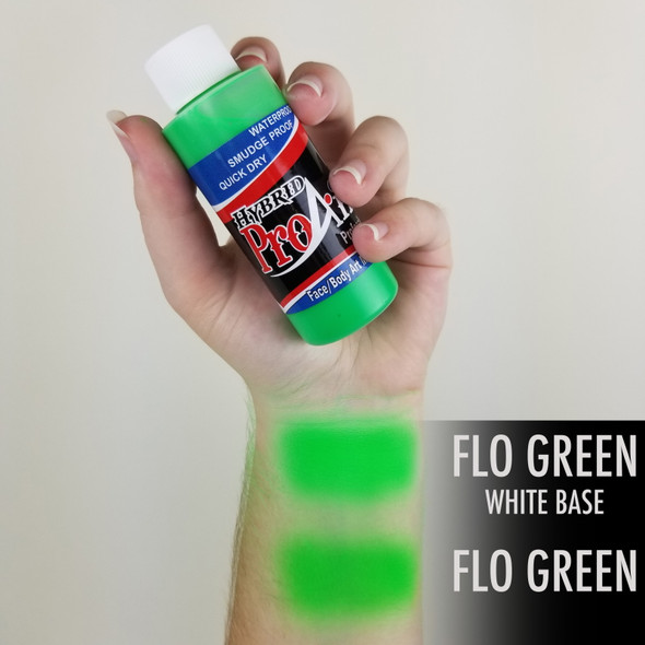 FLUORO GREEN ProAiir Hybrid Waterproof Liquid Face and Body Paint for Airbrush