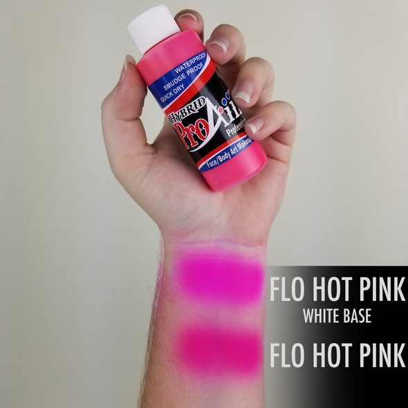 FLUORO HOT PINK ProAiir Hybrid Waterproof Liquid Face and Body Paint for Airbrush