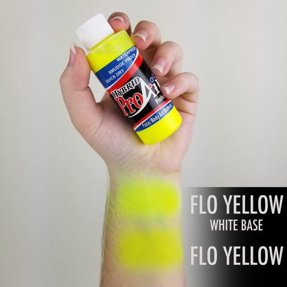 FLUORO YELLOW ProAiir Hybrid Waterproof Liquid Face and Body Paint for Airbrush
