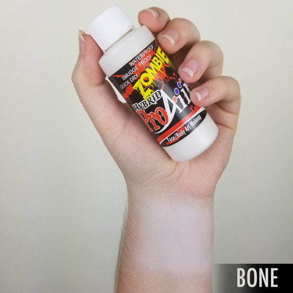 BONE WHITE 'ZOMBIE' ProAiir Hybrid Waterproof Liquid Face and Body Paint for Airbrush