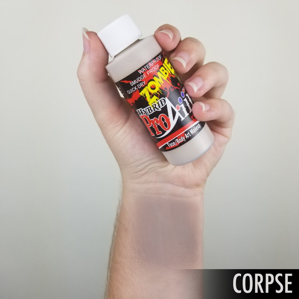 CORPSE 'ZOMBIE' ProAiir Hybrid 60ml Waterproof Liquid Face and Body Paint for Airbrush