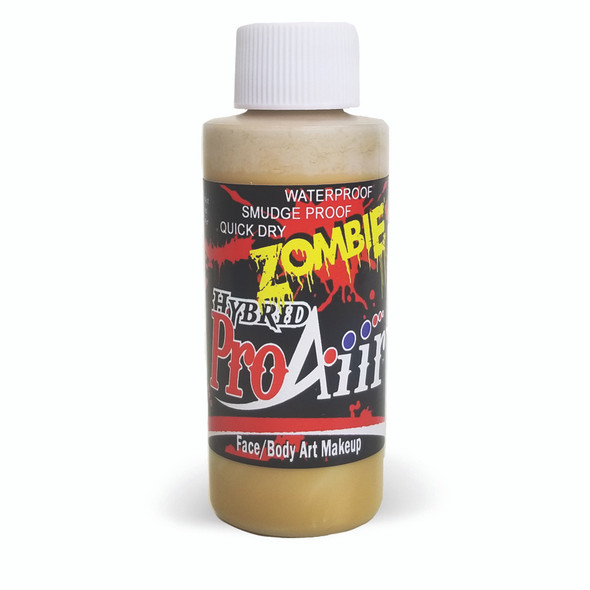 PUS YELLOW 'ZOMBIE' ProAiir Hybrid Waterproof Liquid Face and Body Paint for Airbrush